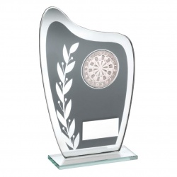 Glass Darts Awards Plaque TD929
