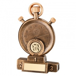 Athletics Track & Field Stopwatch Awards Trophy