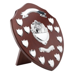 14in Wooden Awards Plaque with 13 Side Shields