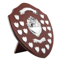 16in Wooden Awards Plaque with 17 Side Shields
