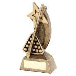 Resin Snooker Pool Shooting Star Trophy