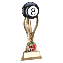Resin Pool 8 Ball Stem Trophy