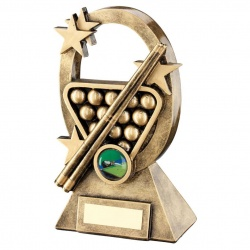 Resin Snooker Pool Oval Trophy RF735