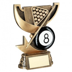 Resin Pool 8 Ball Trophy Cup