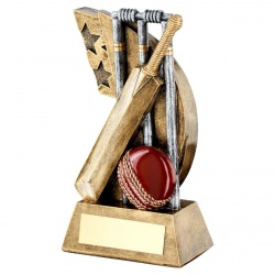 Resin Cricket Scene Trophy RF626