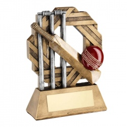 Resin Cricket Theme Octagonal Trophy