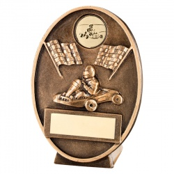 Kart Racing Awards Plaque 4.25in