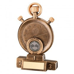 7in Motorports Stopwatch Trophy