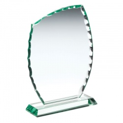 Jade Glass Asymmetric Plaque
