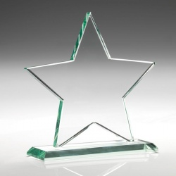 5.25in Jade Glass Star Award