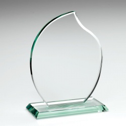 Flame Award in 10mm Jade Glass