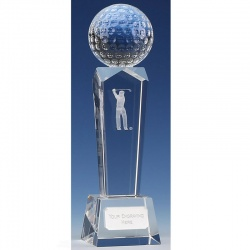 Glass Golf Ball on Column KK023