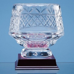Lead Crystal Heeled Bowl 15cm with Engraving Panel