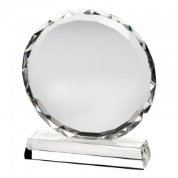 Premium Clear Glass Circle Award