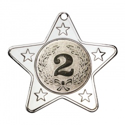 50mm Silver Star Number Two Medal M10