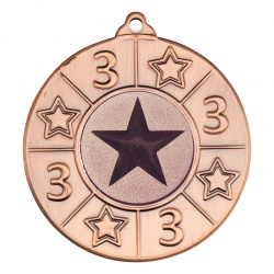 50mm Bronze Number Three Star Medal M93