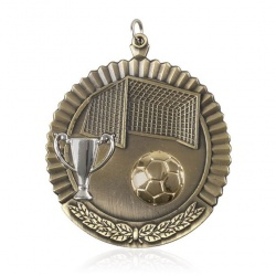 2in Gold Football Medal MD09G