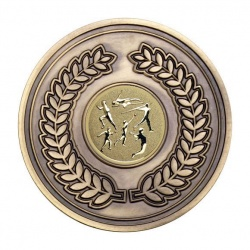 70mm Antique Gold Athletics Multi Laurel Wreath Medal