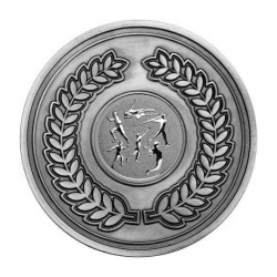 70mm Antique Silver Athletics Multi Laurel Wreath Medal