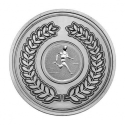 70mm Antique Silver Athletics Male Track Laurel Wreath Medal