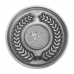 70mm Antique Silver Athletics Female Track Laurel Wreath Medal