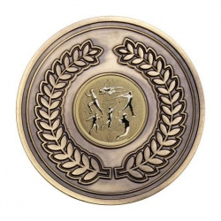 70mm Antique Bronze Athletics Multi Laurel Wreath Medal