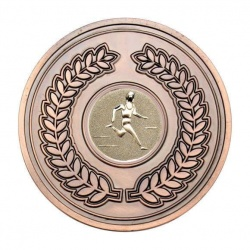 70mm Antique Bronze Athletics Male Track Laurel Wreath Medal
