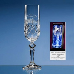 Lead Crystal Champagne Flute