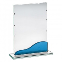 5.75in Jade & Blue Glass Plaque PJ4