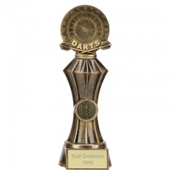 Resin Bronze Diamond Darts Trophy