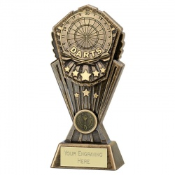 Resin Bronze Cosmos Darts Trophy