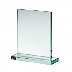 Rectangle Plaque in 10mm Jade Glass