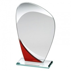 6.5in Jade, Red & Silver Plaque RB1