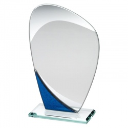 6.5in Jade, Blue & Silver Plaque RB2