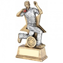 9in Cricket Bowler Trophy RF177