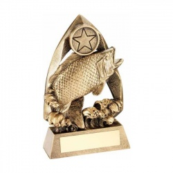 6.5in Resin Bronze Angling Trophy RF679