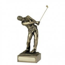 Resin Gold Golf Figure - Follow Through