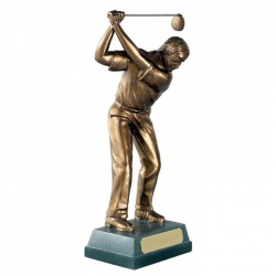 Resin Golf Figure Trophy - Full Swing