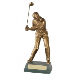 Resin Golf Figure Trophy - Mid Swing