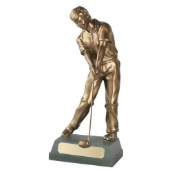 Resin Golf Figure Trophy - Through Swing