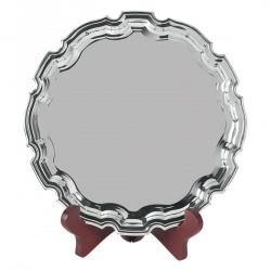 10in Heavy Gauge Nickel Plated Chippendale Tray