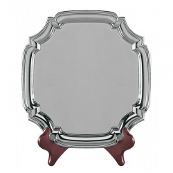 4.5in Heavy Gauge Nickel Plated Square Chippendale Tray