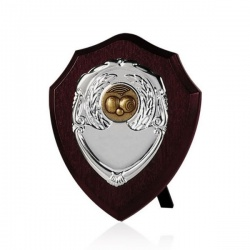 5in Dark Wood Awards Shield SV