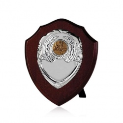 6in Dark Wood Awards Shield SV