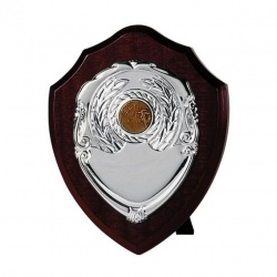 7in Dark Wood Awards Shield SV