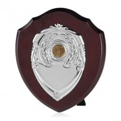 8in Dark Wood Awards Shield SV
