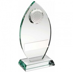 8.5in Glass Darts Awards Plaque TD443