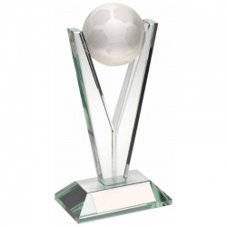 6.5in Glass Football Trophy TD541
