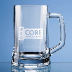 Clear Glass Pint Tankard