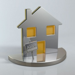 House Trophy in Aluminum & Perspex